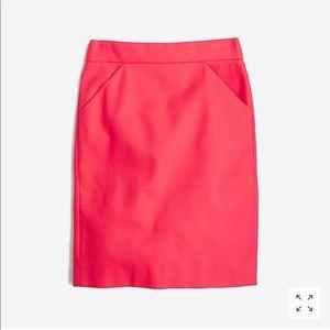 J.Crew Factory pencil skirt size 6 -pink/salmon